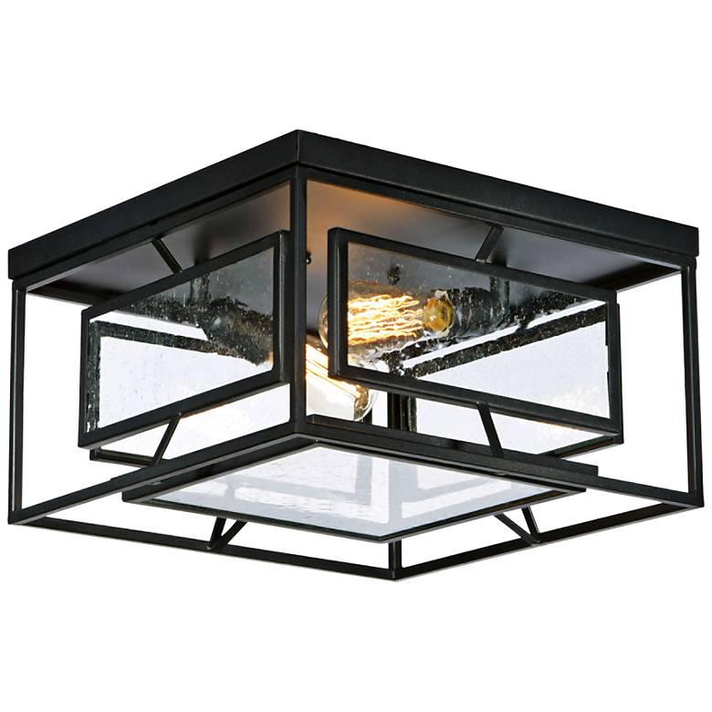 "Maxim Era 15 3/4"" Wide Black 2-Light Ceiling Light"