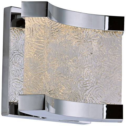 "Maxim Curl 5 1/2"" High Polished Chrome LED Wall Sconce"