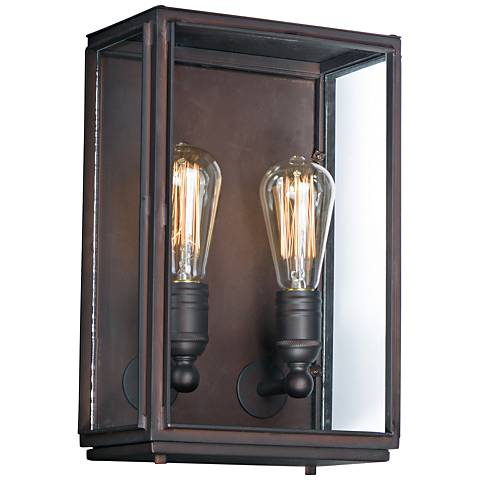 "Pasadena 14""H Oil Rubbed Bronze 2-Light Outdoor Wall Light"