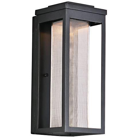 "Maxim Salon 15"" High Black LED Outdoor Wall Light"