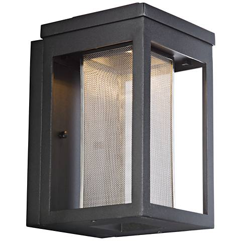 "Maxim Salon 10"" High Black LED Outdoor Wall Light"