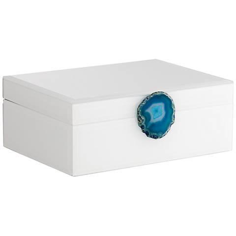 Carillon White and Turquoise Agate Decorative Box