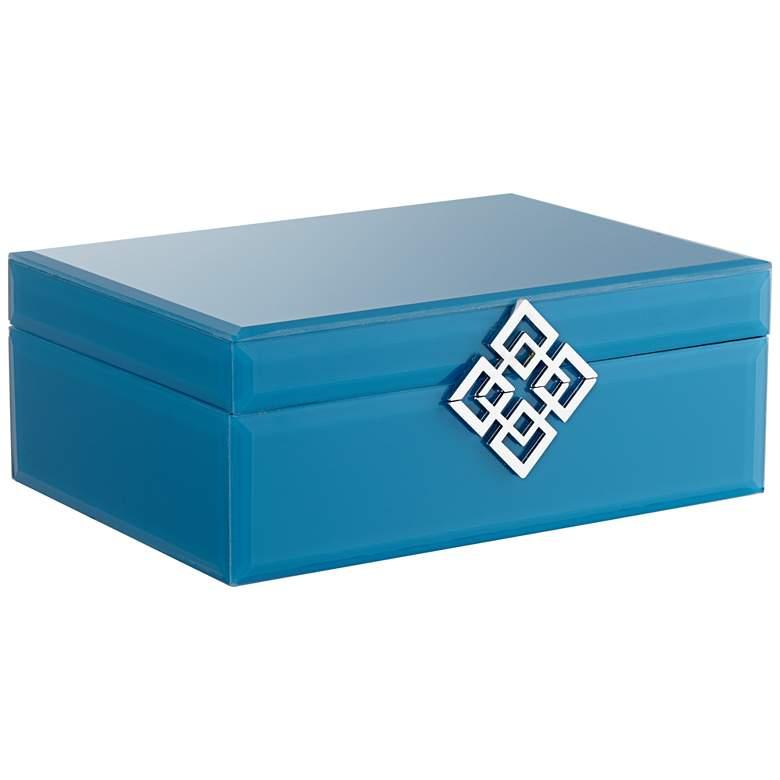 "Seneca Turquoise-Silver 9 1/2"" Wide Decorative Box"