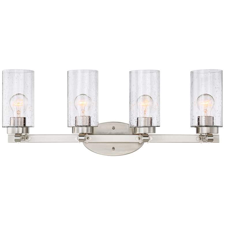 """Holman 27 1/4"""" Wide Brushed Nickel 4-Light Bath Light"""