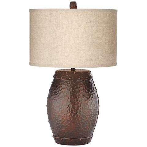 Emory Antique Copper Finish Table Lamp