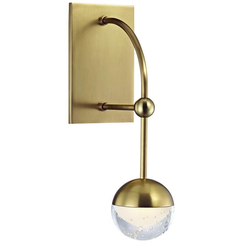 """Hudson Valley Boca 13 1/4"""" High Aged Brass LED Wall Sconce"""