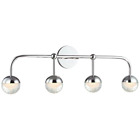 "Hudson Valley Boca 29 1/2""W Polished Chrome 4-LED Bath Light"