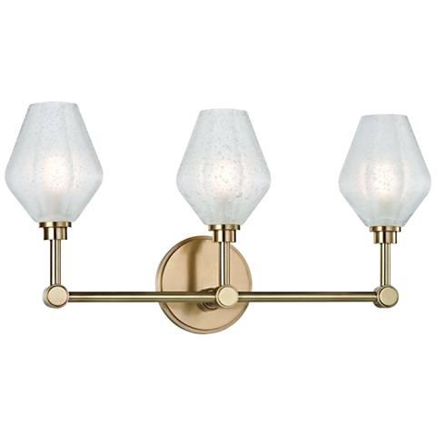 "Hudson Valley Orin 20 1/4"" Wide Aged Brass 3-LED Bath Light"