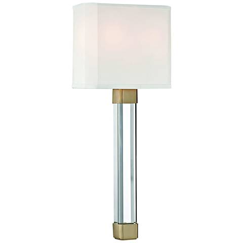 "Hudson Valley Larissa 21 1/2"" High Aged Brass Wall Sconce"