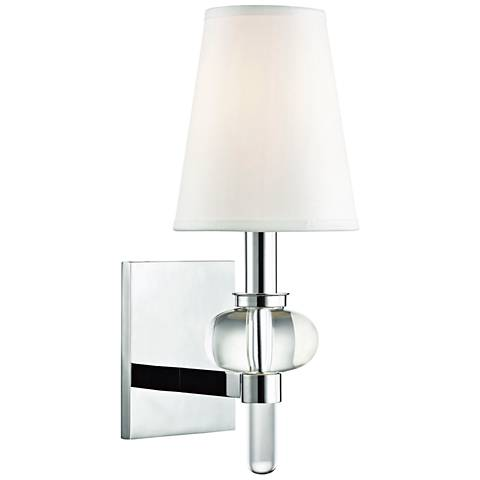 "Hudson Valley Luna 14"" High Polished Chrome Wall Sconce"