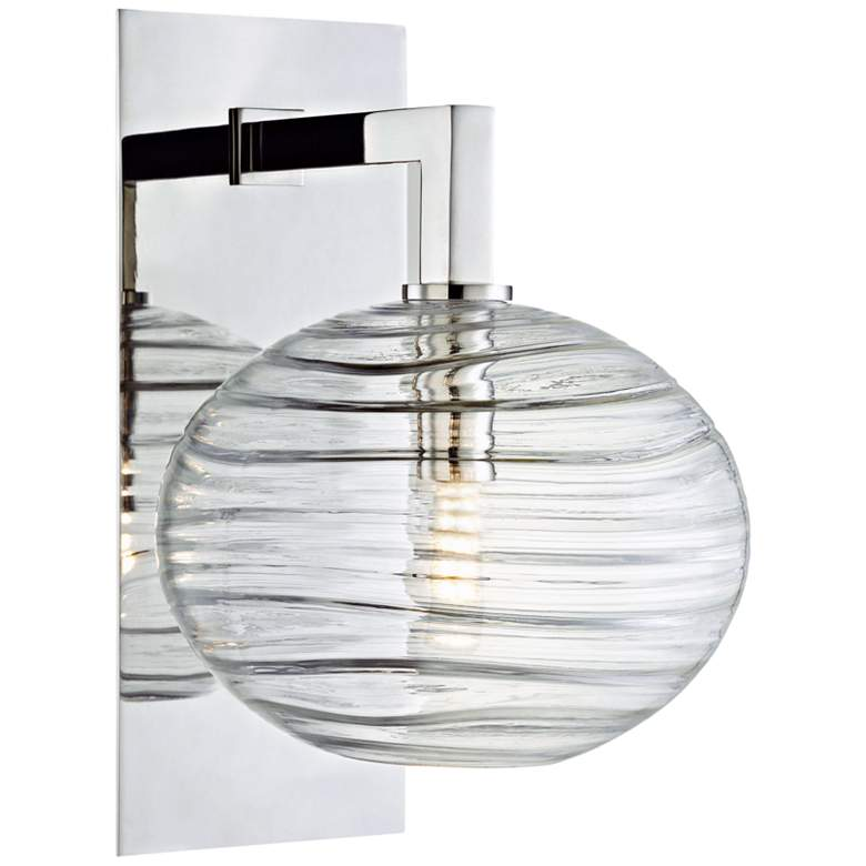 "Hudson Valley Breton 12 3/4"" High Nickel LED Wall Sconce"