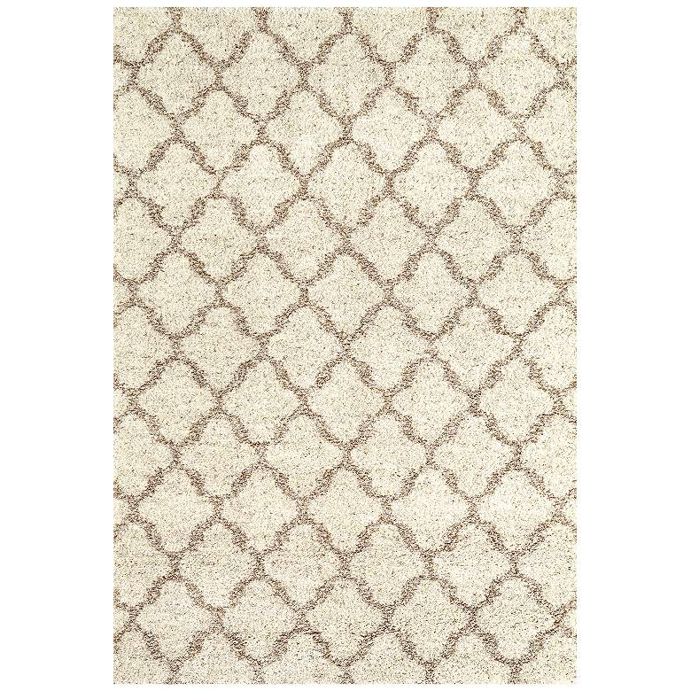 Prima Shag RG951 Temara Lattice Camel Area Rug