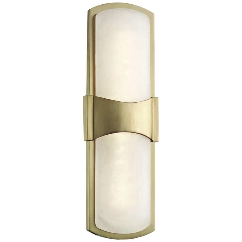 "Hudson Valley Valencia 15"" High Aged Brass LED Wall Sconce"