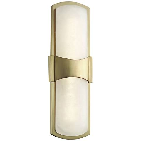 """Hudson Valley Valencia 15"""" High Aged Brass LED Wall Sconce"""