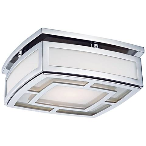 "Hudson Valley Elmore 9 1/2"" Wide Nickel LED Ceiling Light"