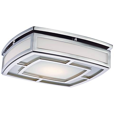 "Hudson Valley Elmore 12 3/4"" Wide Nickel LED Ceiling Light"