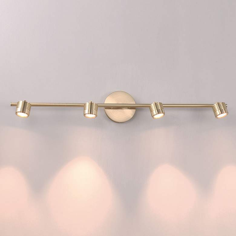 WAC Vector 4-Light Brushed Brass LED Track Fixture