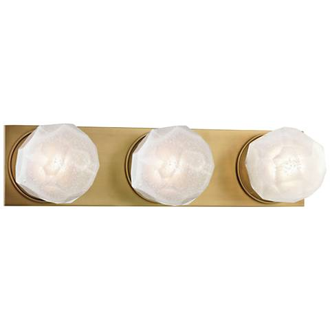 "Hudson Valley Nimbus 17 1/4""W Aged Brass 3-LED Bath Light"