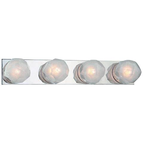 "Hudson Valley Nimbus 24""W Polished Nickel 4-LED Bath Light"