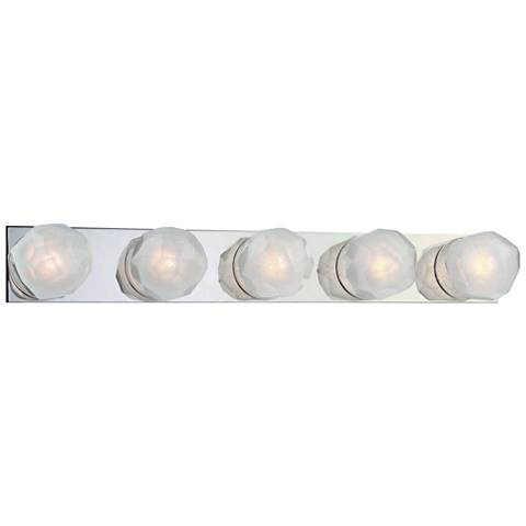 "Hudson Valley Nimbus 30 1/4"" Wide Nickel 5-LED Bath Light"