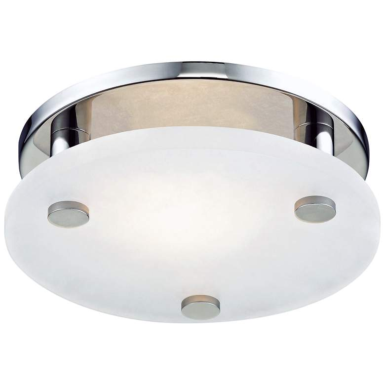 """Hudson Valley Croton 9""""W Polished Nickel LED Ceiling"""