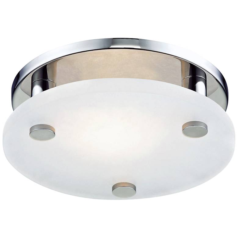 "Hudson Valley Croton 9""W Polished Nickel LED Ceiling Light"