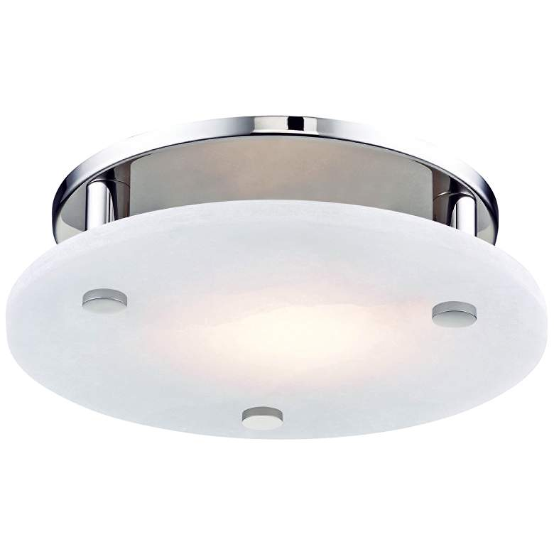 """Hudson Valley Croton 12 1/4"""" Wide Nickel LED Ceiling Light"""