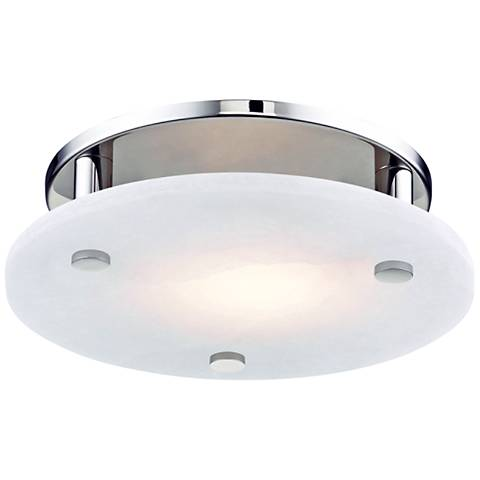 "Hudson Valley Croton 12 1/4"" Wide Nickel LED Ceiling Light"