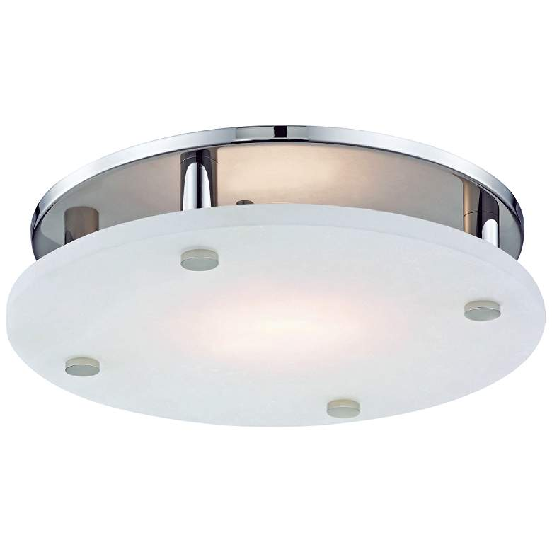 "Hudson Valley Croton 15""W Polished Nickel LED Ceiling"