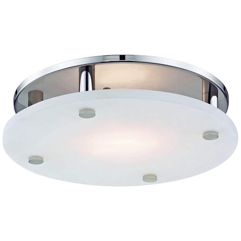 "Hudson Valley Croton 15""W Polished Nickel LED Ceiling Light"