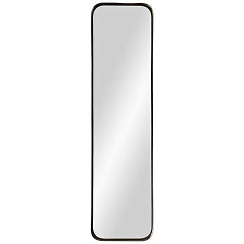 """Via Powder-Coated Iron 9"""" x 36"""" Wall Mirror"""