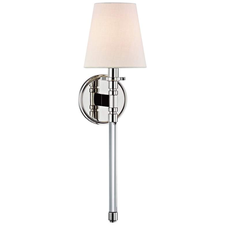"""Hudson Valley Blixen 21"""" High Polished Nickel Wall Sconce"""