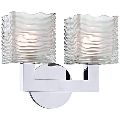 "Hudson Valley Sagamore 9""H Polished Chrome 2-LED Wall Sconce"