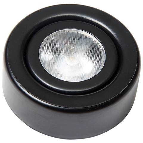 "GM Lighting SDP 2.63"" Wide Black Single LED Puck Light"