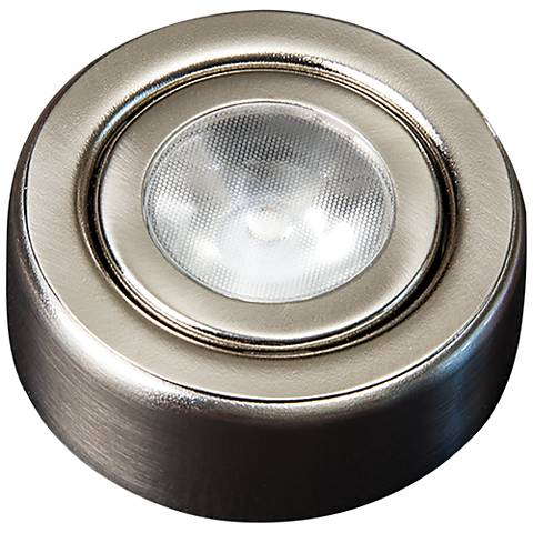 "SlimEdge™ Camino 2.63""W Brushed Nickel LED Puck Light"
