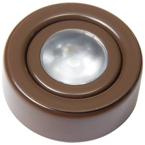 "SlimEdge™ Camino 2.63"" Wide Bronze Single LED Puck Light"