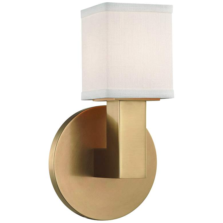 """Hudson Valley Clarke 8 3/4"""" High Aged Brass LED Wall Sconce"""