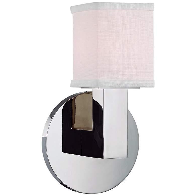 "Hudson Valley Clarke 8 3/4""H Polished Nickel LED Wall Sconce"