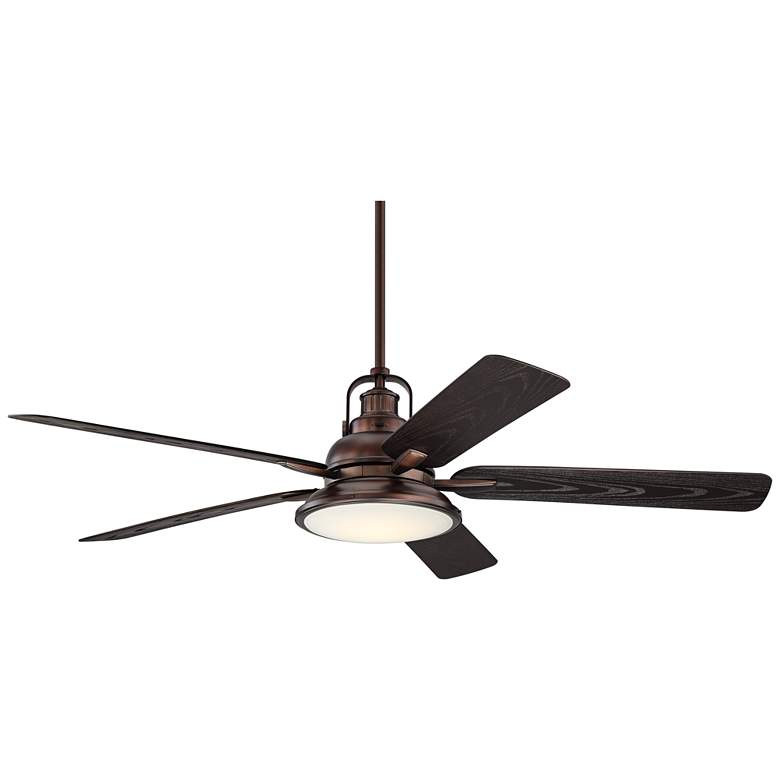 "60"" Wind and Sea Bronze Finish LED Outdoor Ceiling Fan"