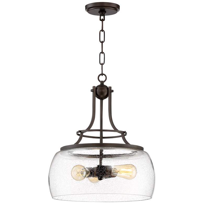 "Charleston 16"" Wide Painted Bronze 3-Light LED Pendant Light"