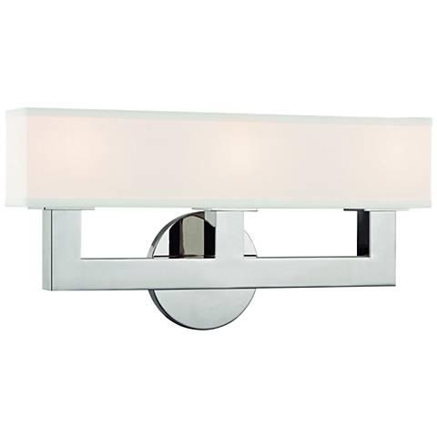 "Hudson Valley Clarke 16 1/2"" Wide Nickel 3-LED Bath Light"