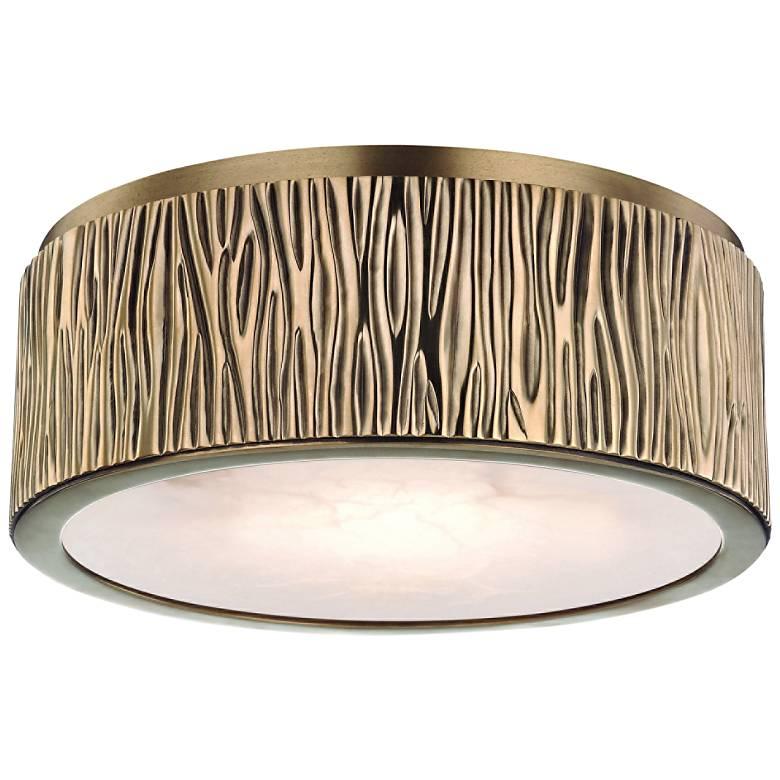 "Hudson Valley Crispin 9"" Wide Aged Brass LED Ceiling Light"
