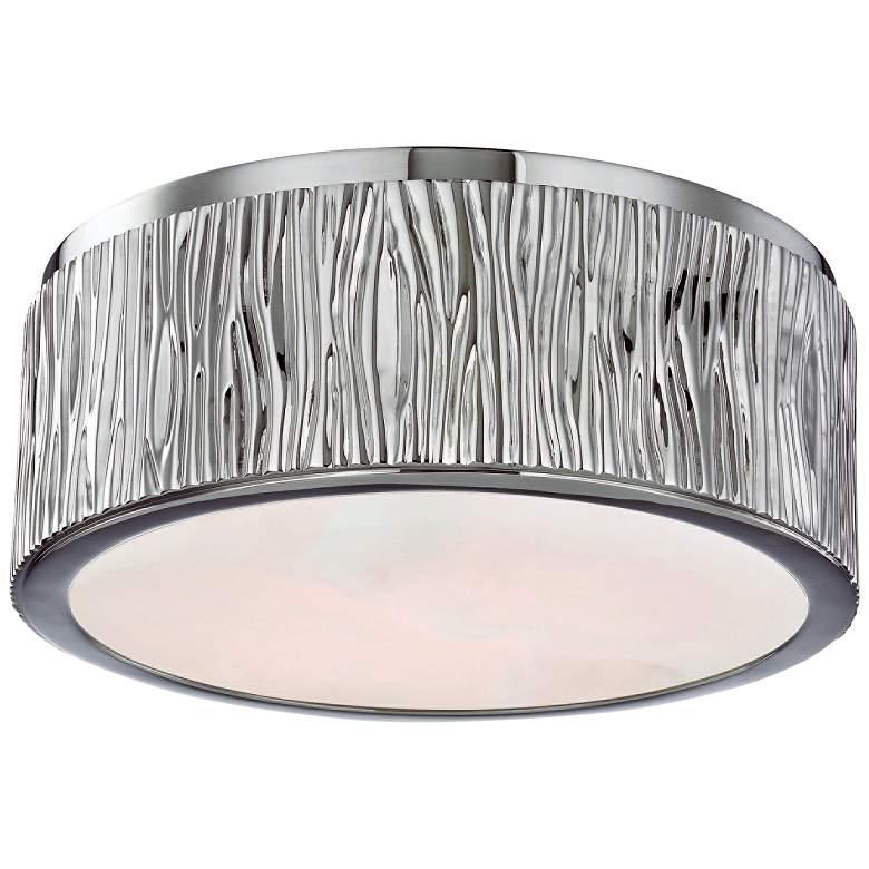 "Hudson Valley Crispin 9""W Polished Nickel LED Ceiling Light"