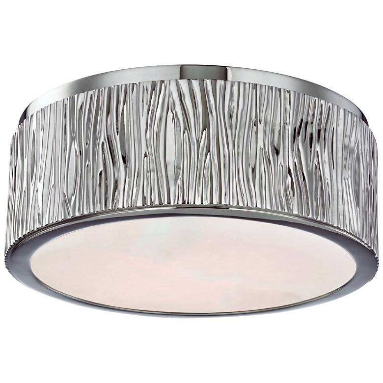 "Hudson Valley Crispin 9""W Polished Nickel LED Ceiling Light"