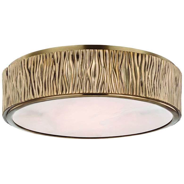 "Hudson Valley Crispin 13"" Wide Aged Brass LED Ceiling Light"