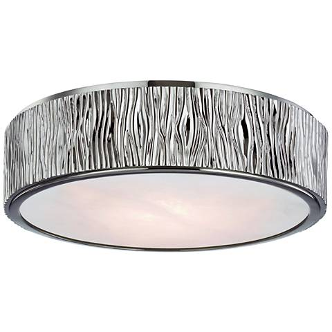 "Hudson Valley Crispin 13""W Polished Nickel LED Ceiling Light"