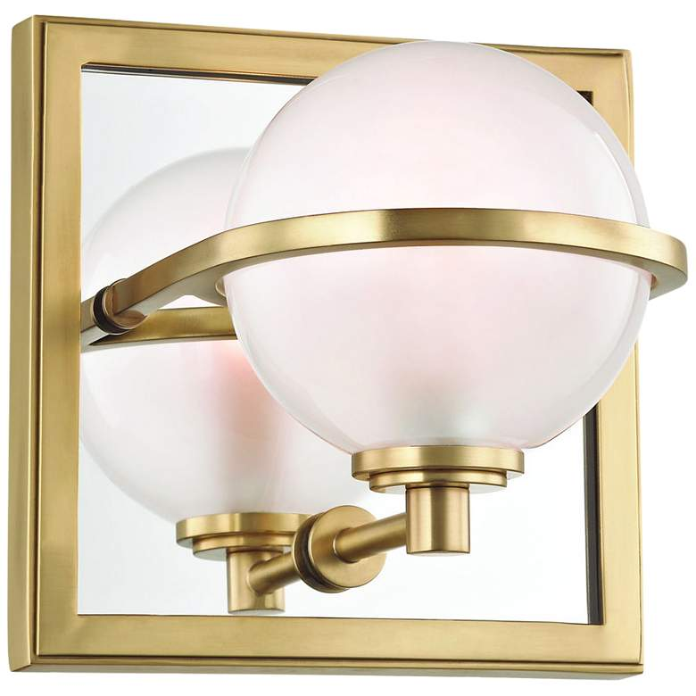 """Hudson Valley Axiom 6"""" High Aged Brass LED Wall Sconce"""