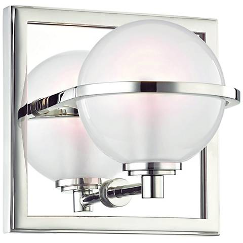 "Hudson Valley Axiom 6"" High Polished Nickel LED Wall Sconce"