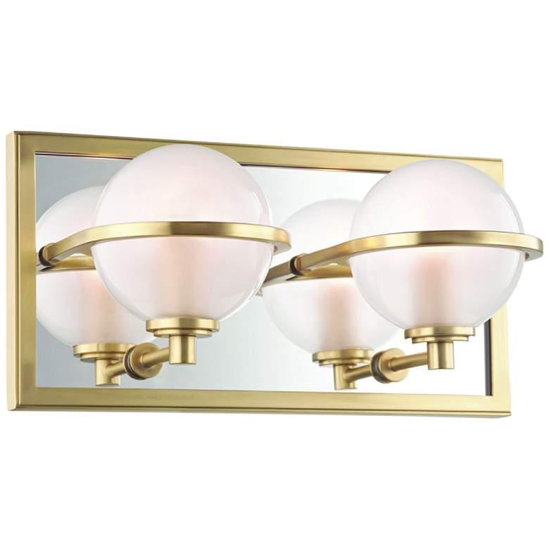 "Hudson Valley Axiom 6"" High Aged Brass 2-LED"