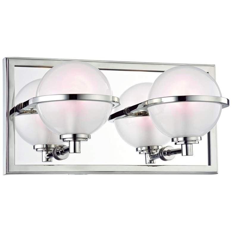 """Hudson Valley Axiom 6""""H Polished Nickel 2-LED Wall Sconce"""